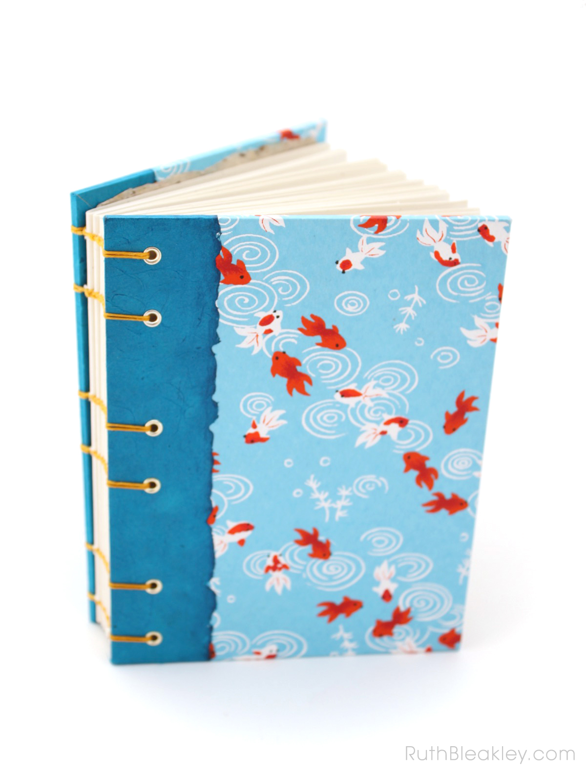 Goldfish journal handmade by Ruth Bleakley - 2