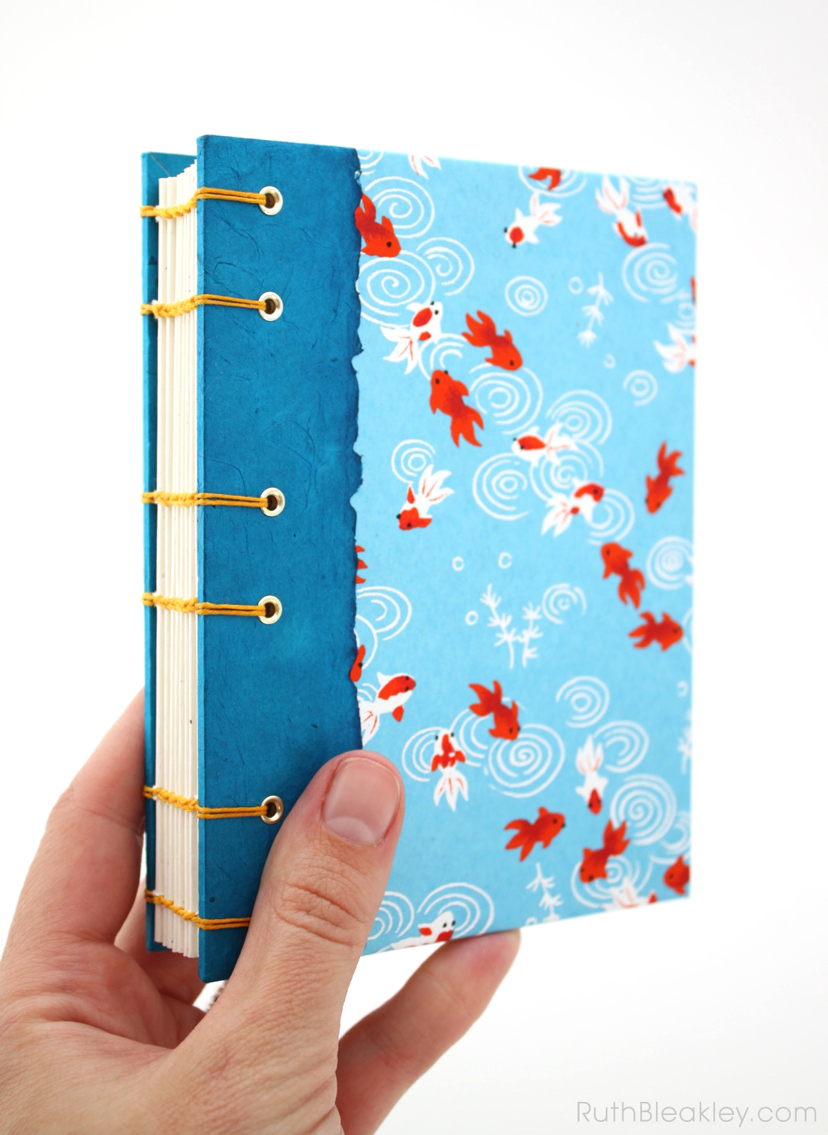 Goldfish journal handmade by Ruth Bleakley - 3