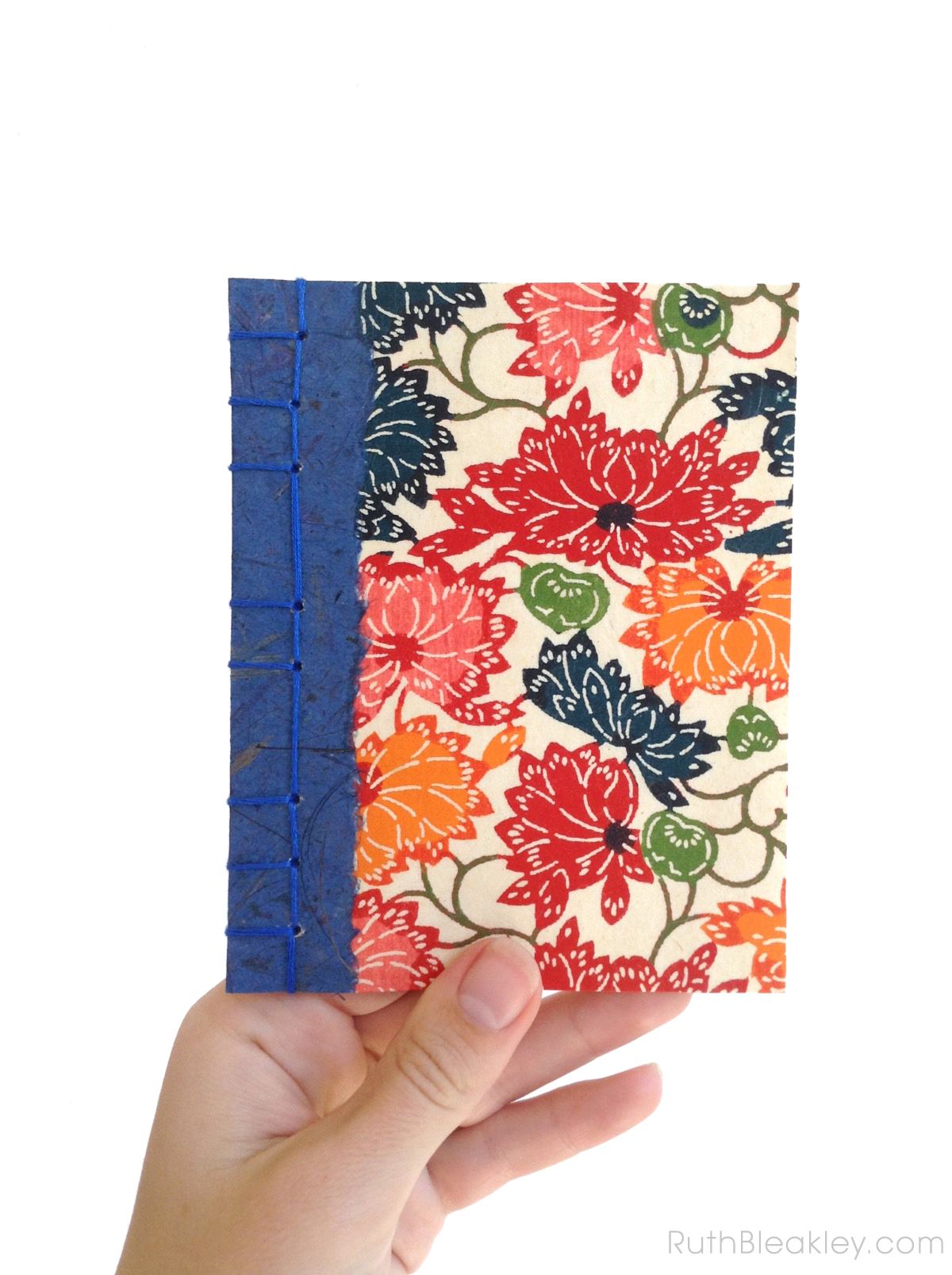 Katazome Shi handmade notebook by Ruth Bleakley - Japanese Stab Binding