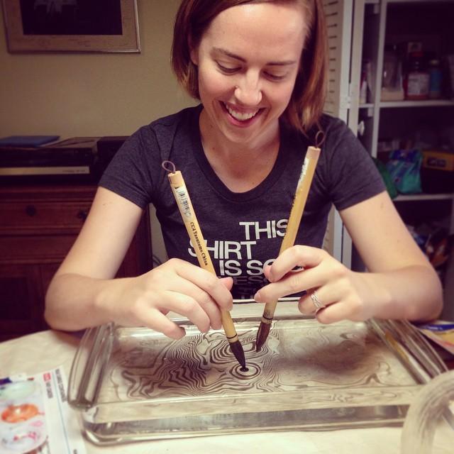 Ruth Bleakley DIY Japanese Paper Marbling