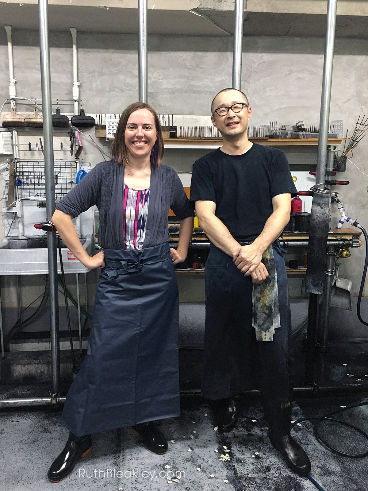 Traveling to Japan to learn suminagashi marbling