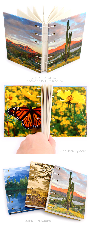 Cactus Journal handmade by bookbinder Ruth Bleakley