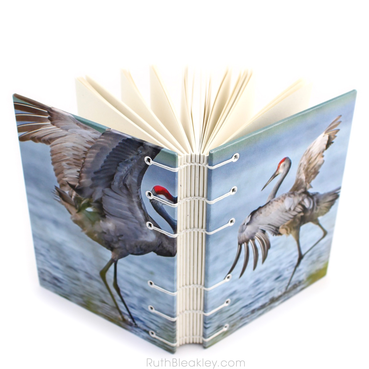 Cranes Journal handmade by book artist Ruth Bleakley - 1 (1)