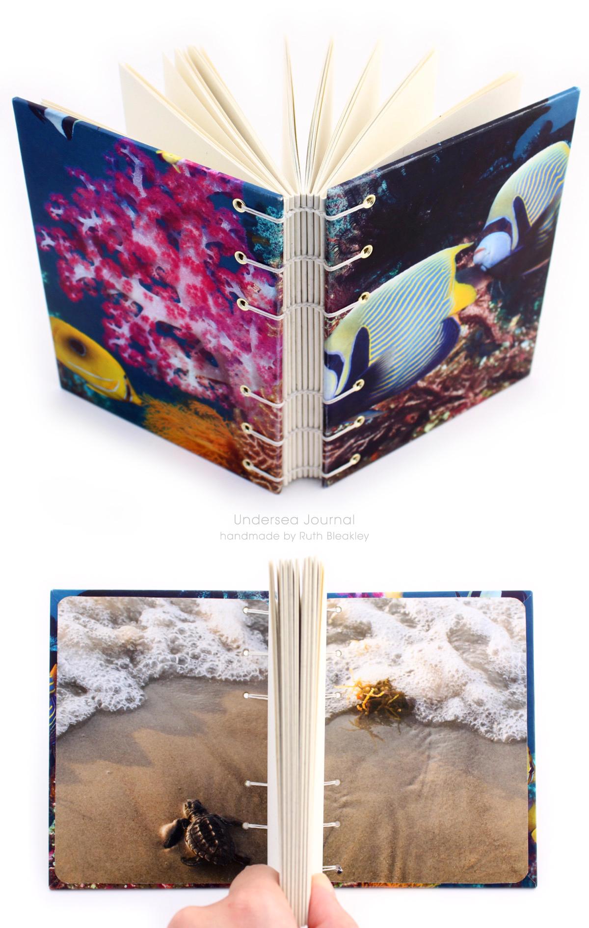 Undersea Journal handmade by Ruth Bleakley