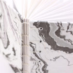Handmade Book by Ruth Bleakley with Suminagashi Marbled Paper - 5