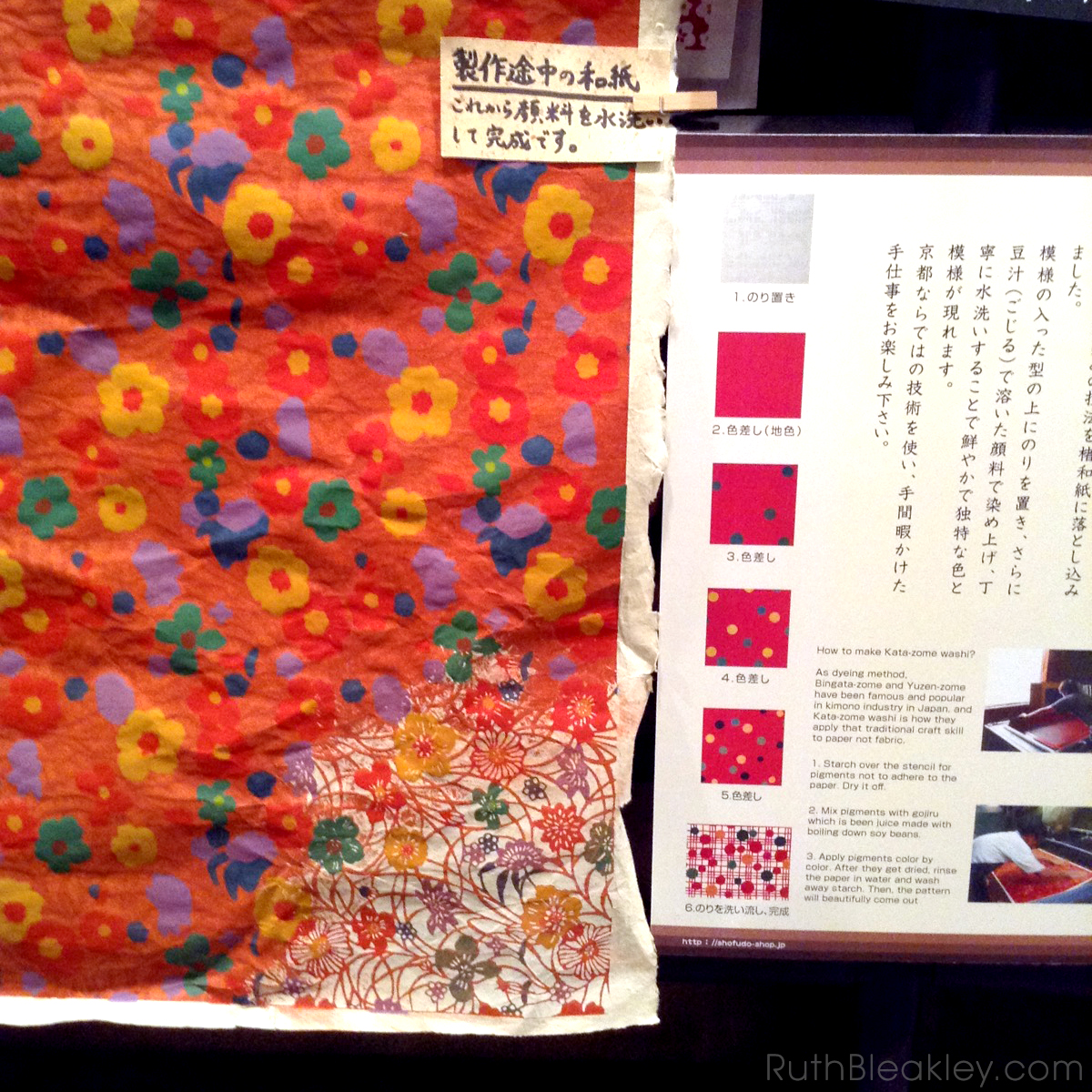 Ruth visits Suzuki Shofudo in Kyoto Japan for Katazome Washi Paper - how Katazome is made