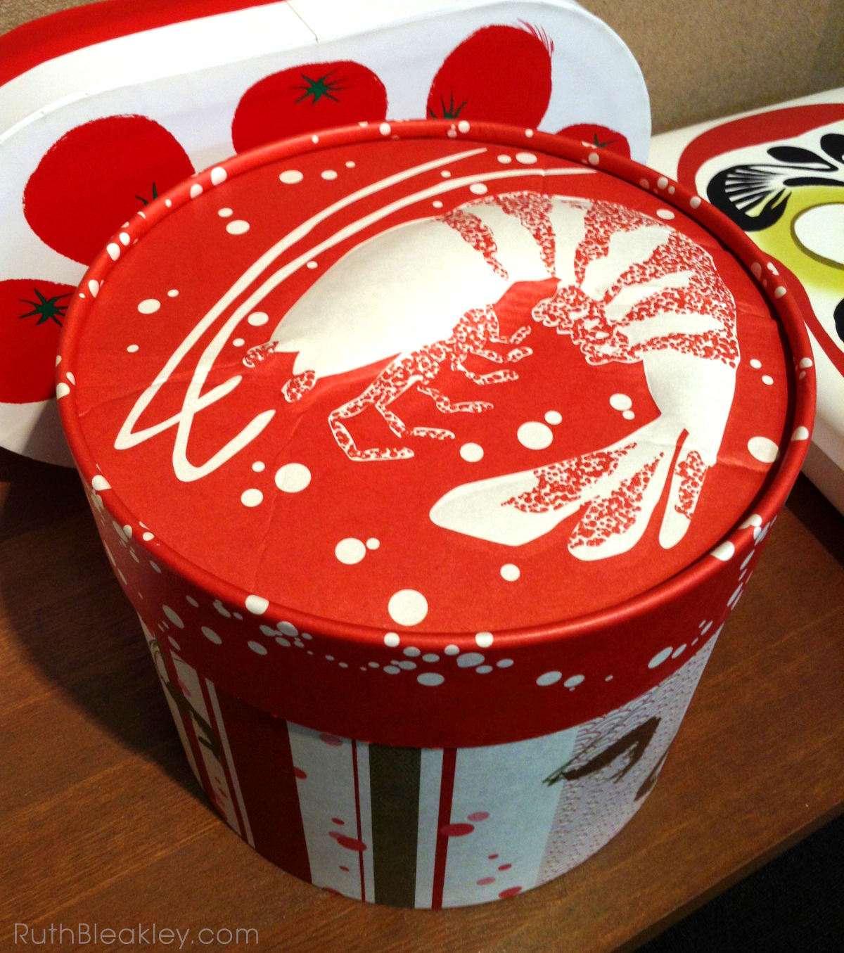 Ruth visits Suzuki Shofudo in Kyoto Japan for Katazome Washi Paper - Ebi Shrimp Box