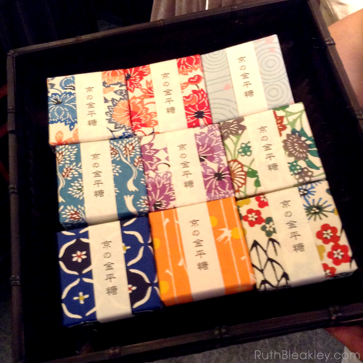 Ruth visits Suzuki Shofudo in Kyoto Japan for Katazome Washi Paper - candy boxes