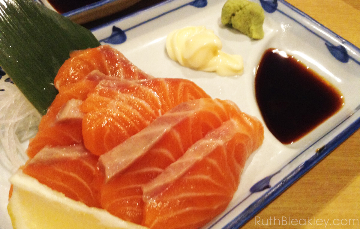 salmon sushi in Kyoto - 1