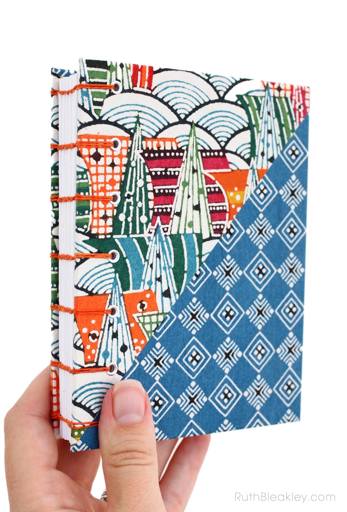 Hidden Cities Katazome Journal handmade by Ruth Bleakley