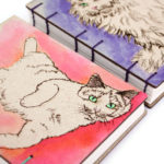 Handpainted Cat Journals handbound by bookbinder Ruth Bleakley - 3