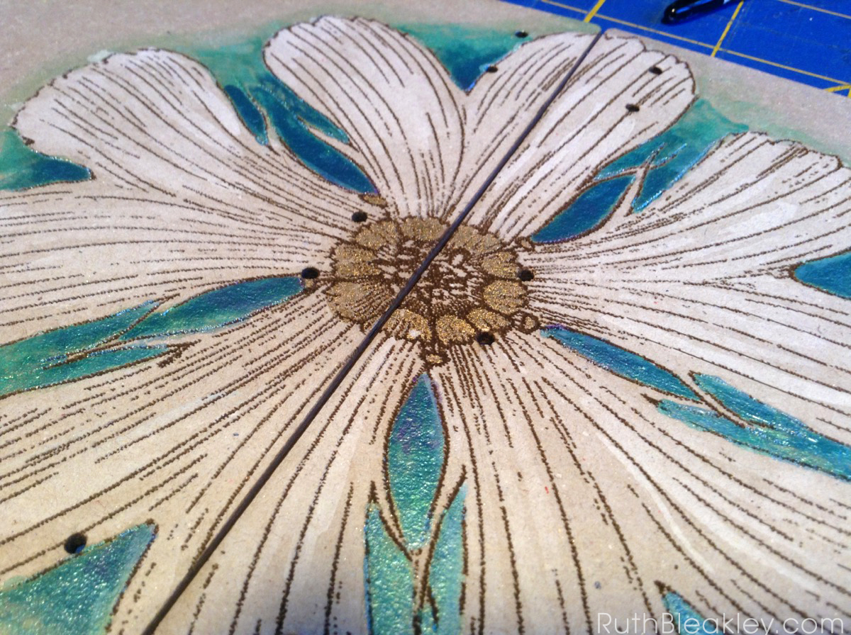 hand painted daisy journal from book artist Ruth Bleakley - 7