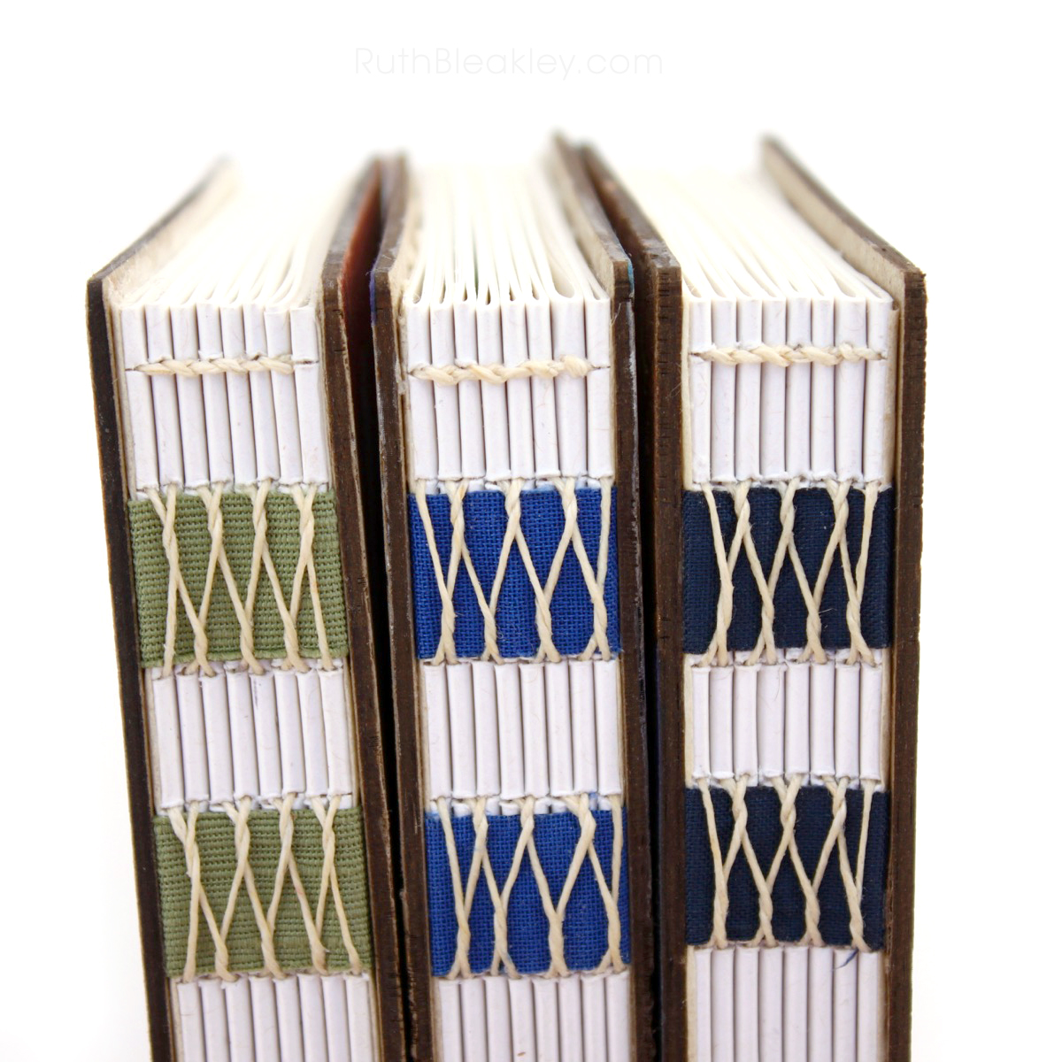 Handpainted Nature Journals sewn with French Link Stitch and engraved with the Glowforge from Book artist Ruth Bleakley - 10