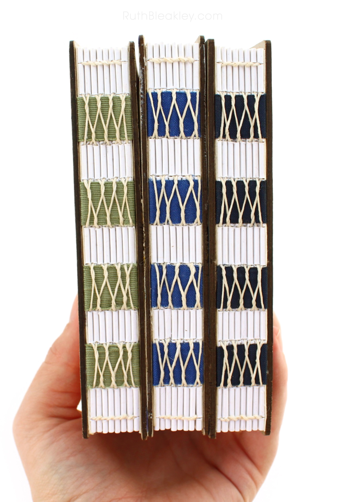 French Link Stitch Journals handmade by Ruth Bleakley