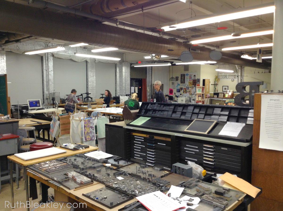 Book Cloth making workshop at Asheville Bookworks October 2017 - 20
