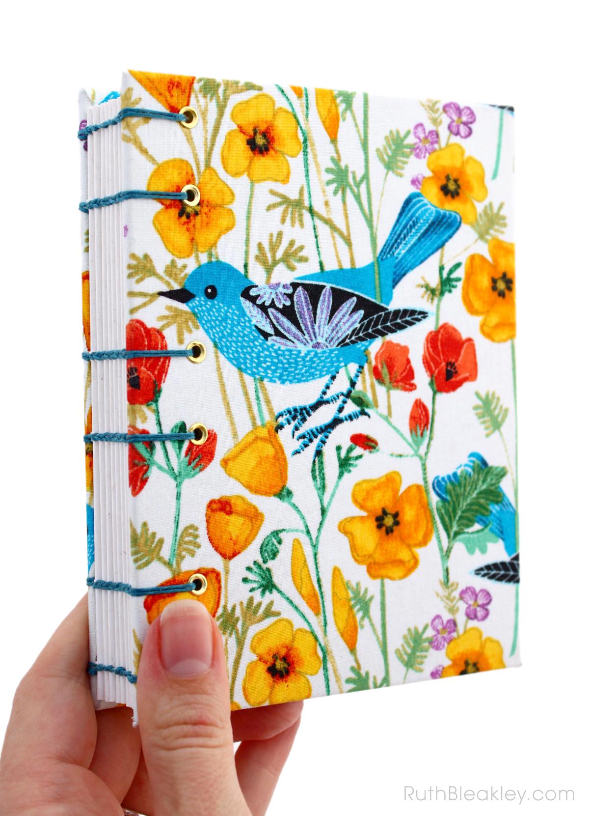 Geninne Zlatkis Bird Journal handmade by bookbinder Ruth Bleakley - 1