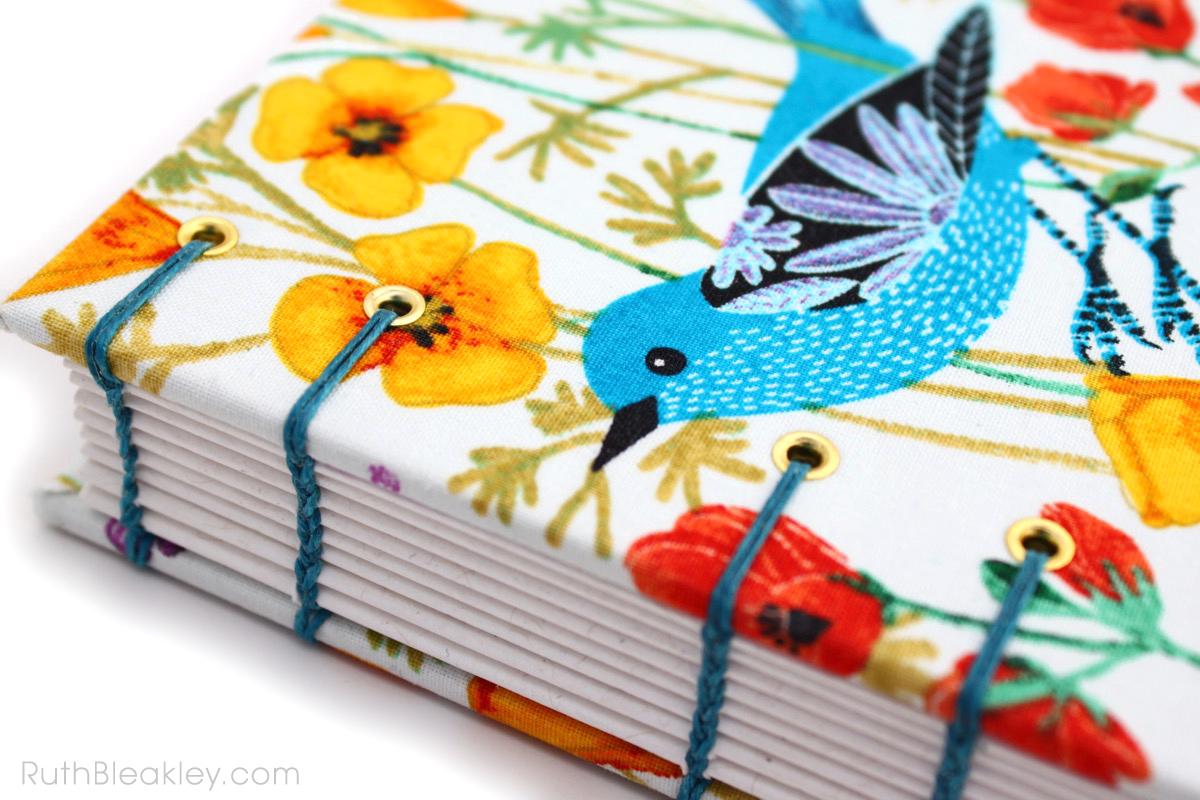Geninne Zlatkis Bird Journal handmade by bookbinder Ruth Bleakley - 4