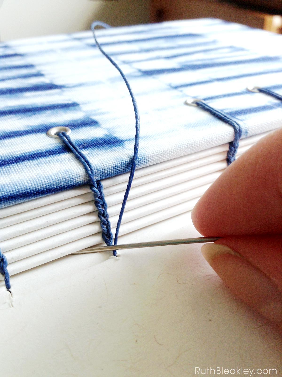 Shibori Handmade Journals in Progress by bookbinder Ruth Bleakley - 4