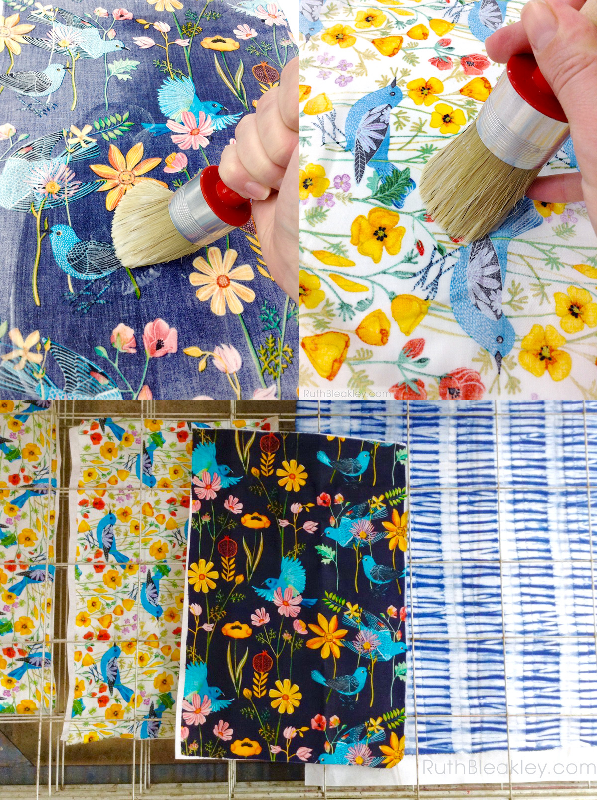 book cloth made from Gennine Zlatkis fabric for bookbinding by Ruth Bleakley