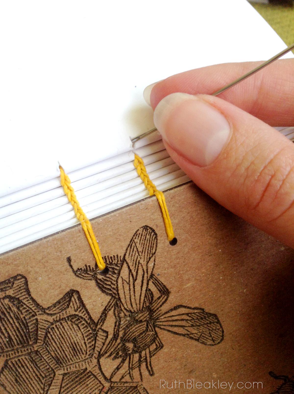 Honeybee Handmade Journals by Book Artist Ruth Bleakley