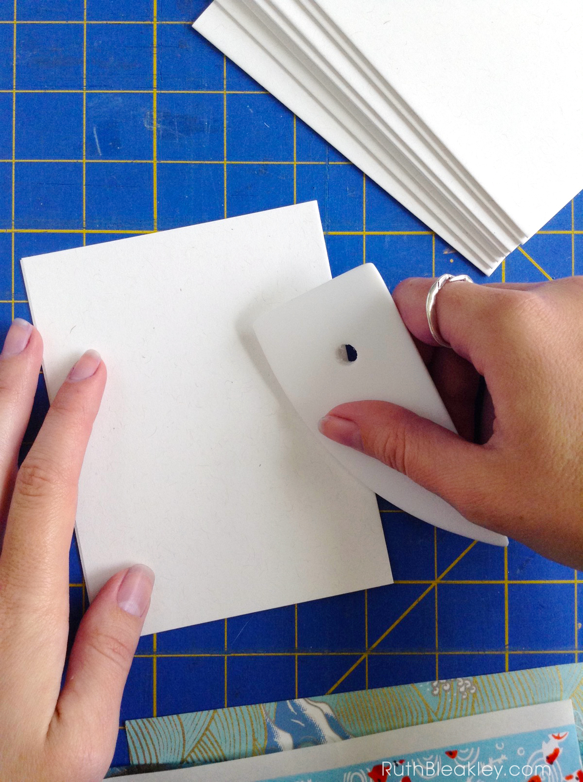 Ergonomic rib folder is a great shape for folding paper