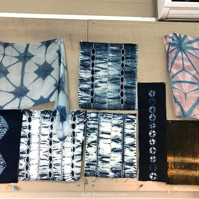 shibori fabric made at Aya Fiber Studio