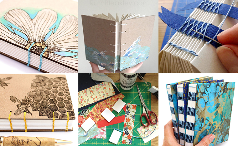 A selection of journals handmade by Ruth Bleakley - About Page