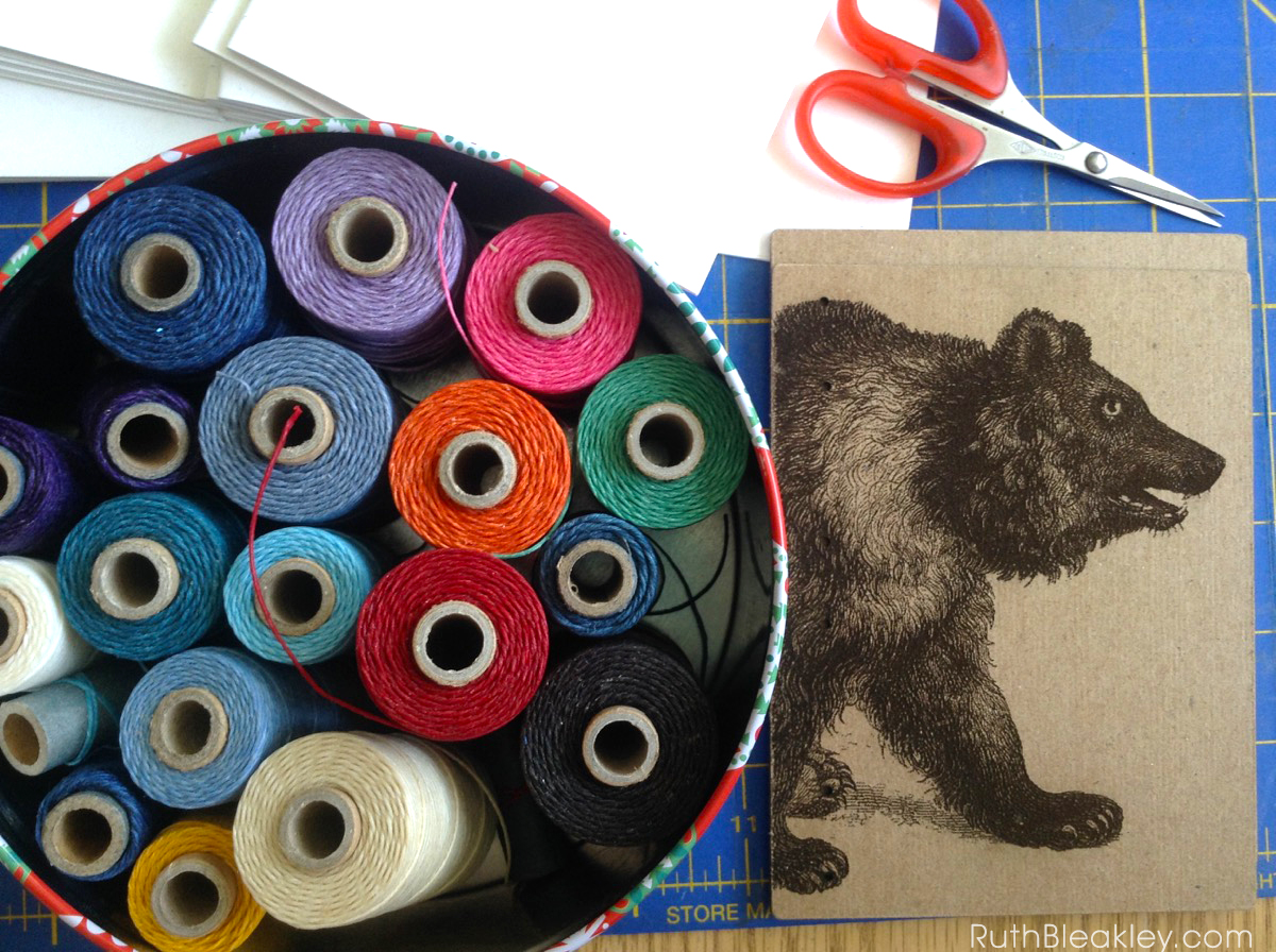 Bear Handmade Journal by book artist Ruth Bleakley - 2