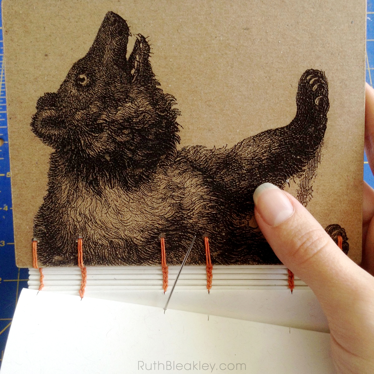 Bear Handmade Journal by book artist Ruth Bleakley - bookbinding
