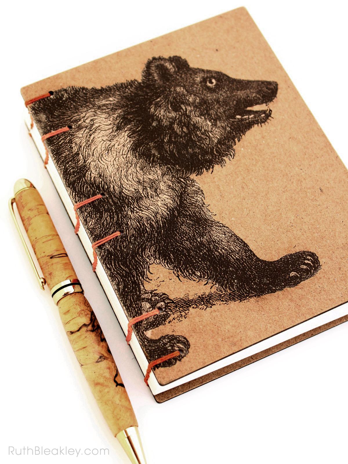 Bear Journal handmade by American book artist Ruth Bleakley - 3