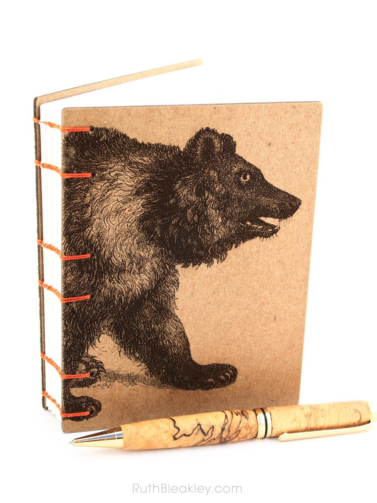 Bear Journal handmade by American book artist Ruth Bleakley - 6