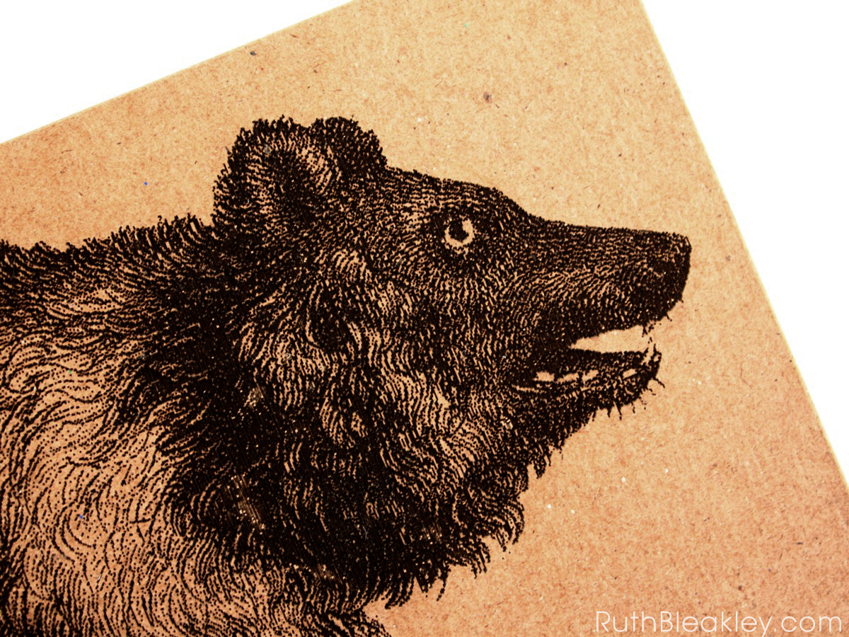 Bear Journal handmade by American book artist Ruth Bleakley - 7