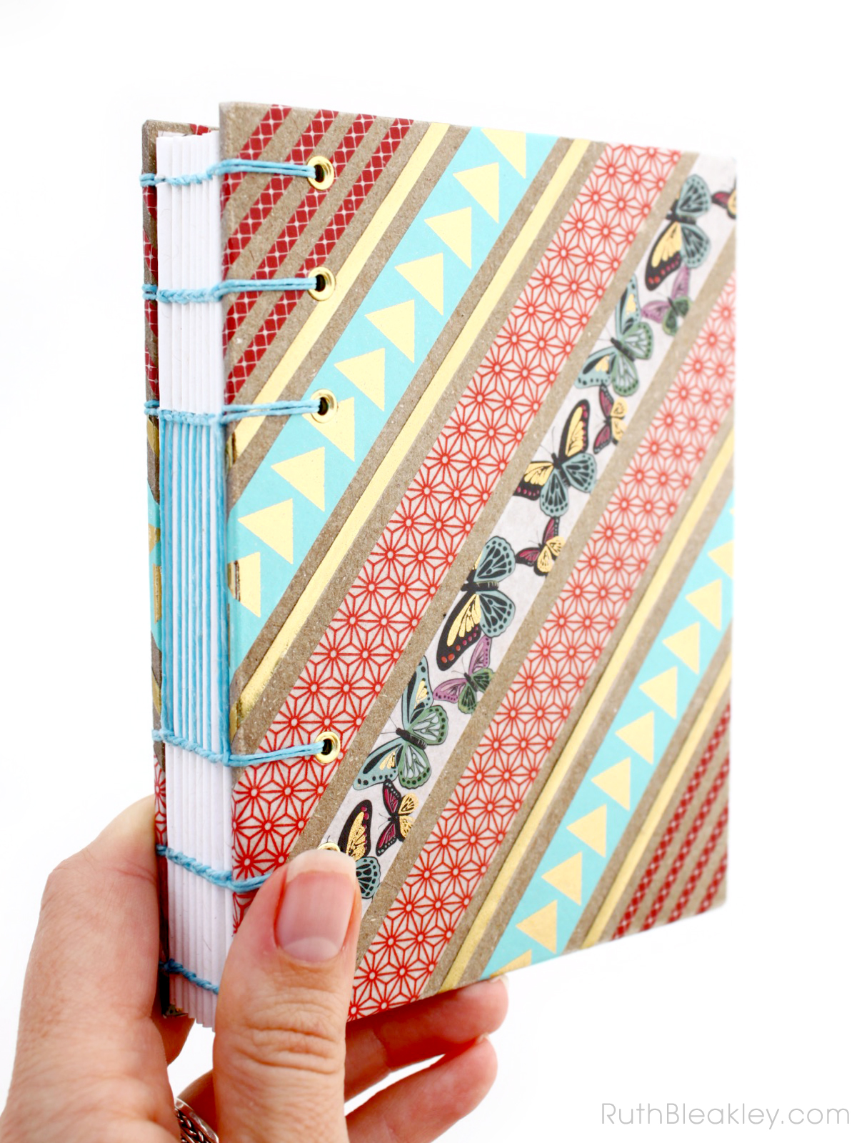 Butterfly Washi Tape Journal handmade by Ruth Bleakley - 1