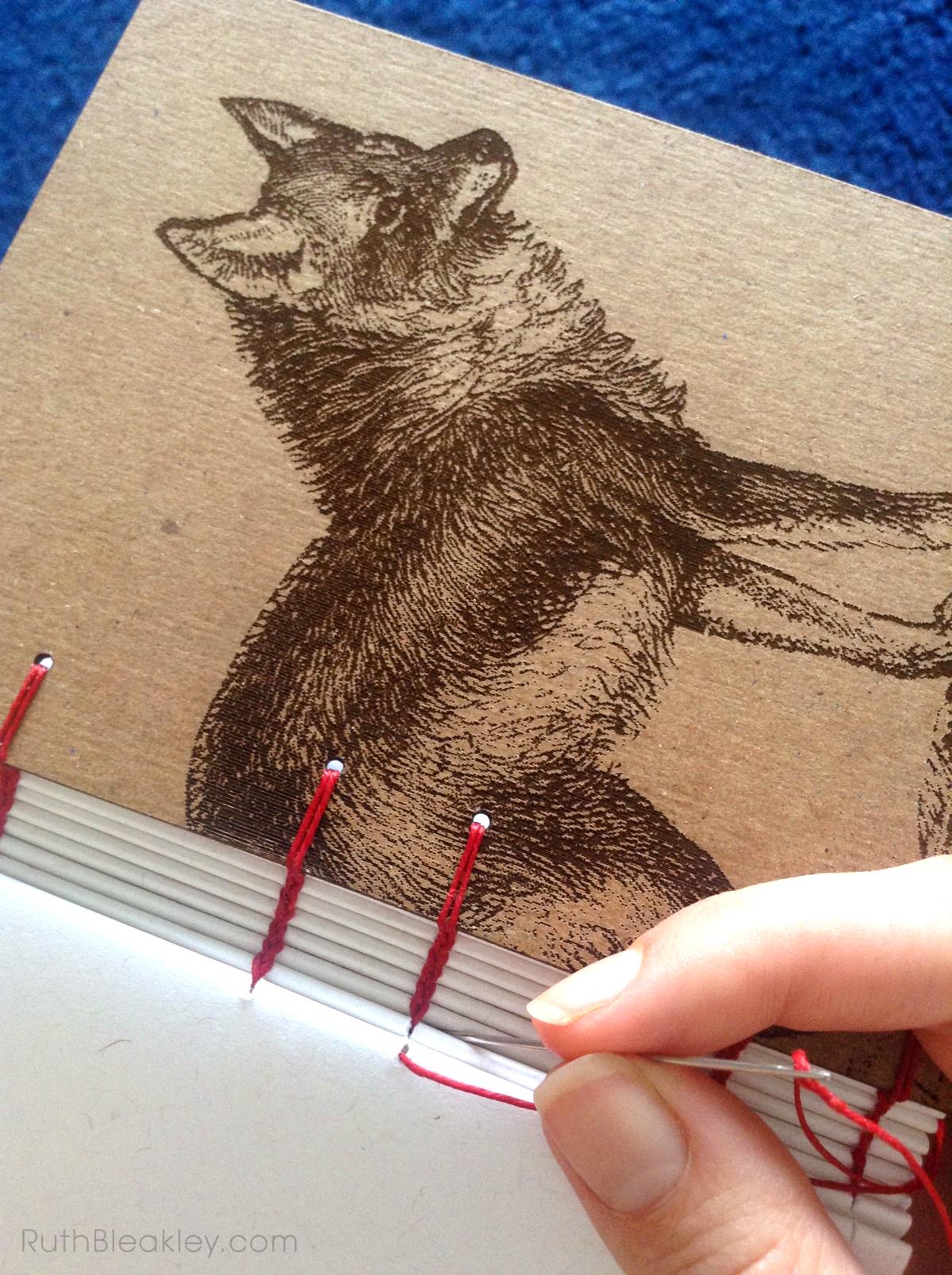 Coyote Journal handmade by Ruth Bleakley - 2