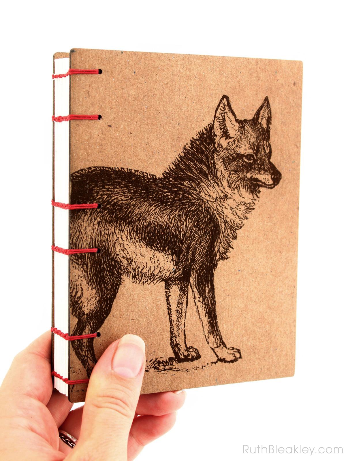 Coyote Wolf Journal handmade by American book artist Ruth Bleakley - 1