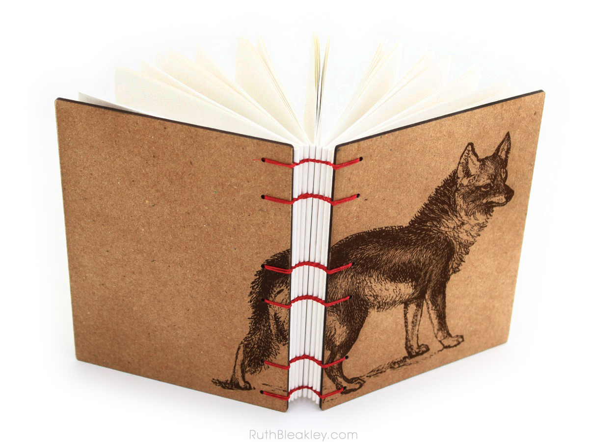 Coyote Wolf Journal handmade by American book artist Ruth Bleakley - 3