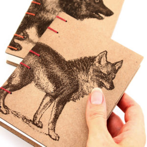 Coyote and Bear Journals handmade by American book artist Ruth Bleakley - 3