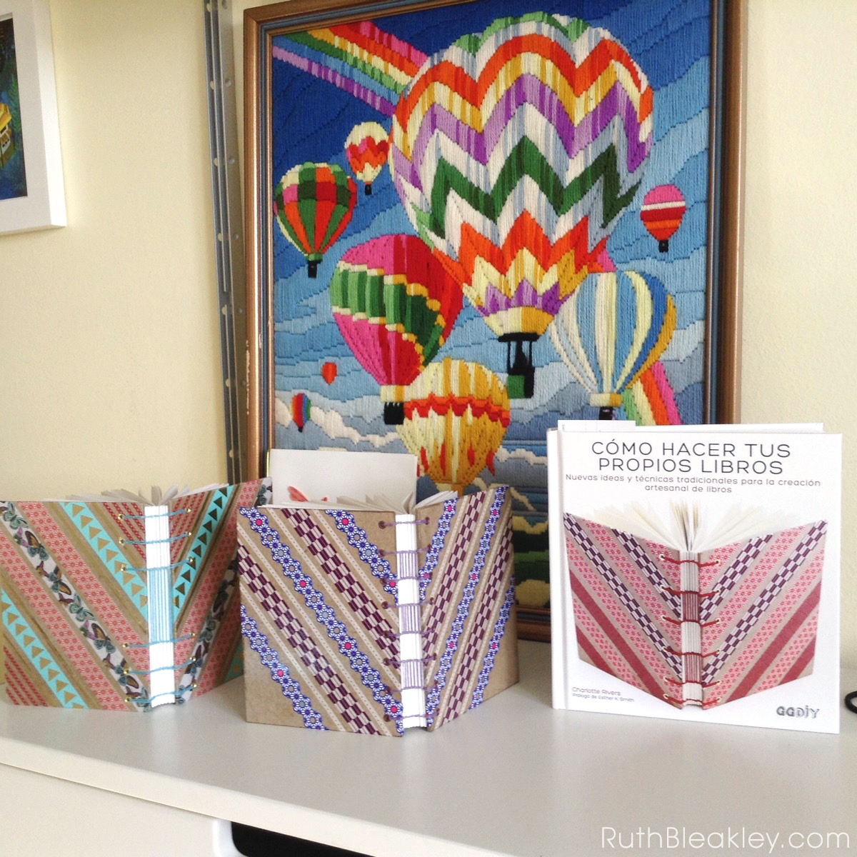 Making Washi Tape Journals with ladder stitching by Ruth Bleakley - 1