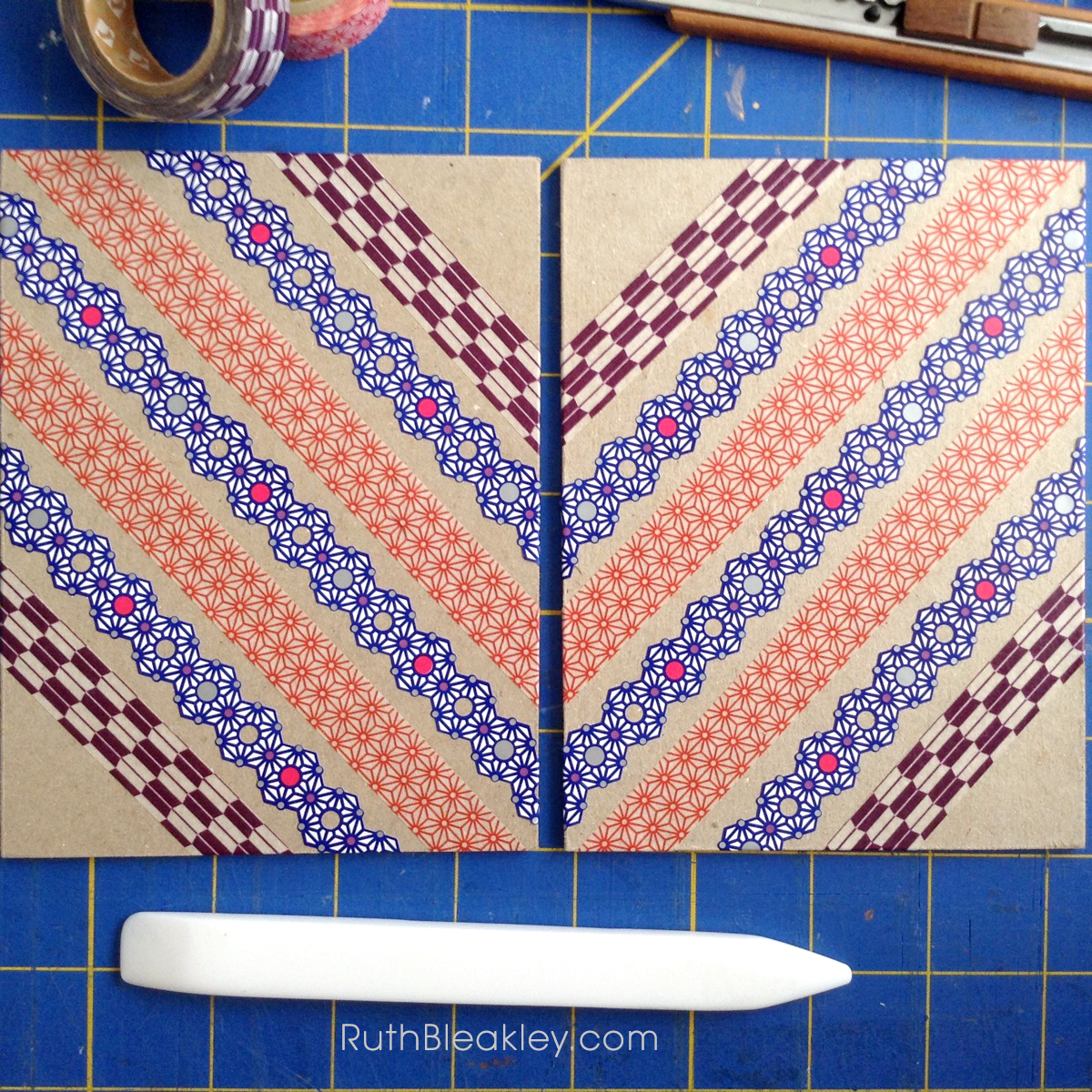 Making Washi Tape Journals with ladder stitching by Ruth Bleakley - 12