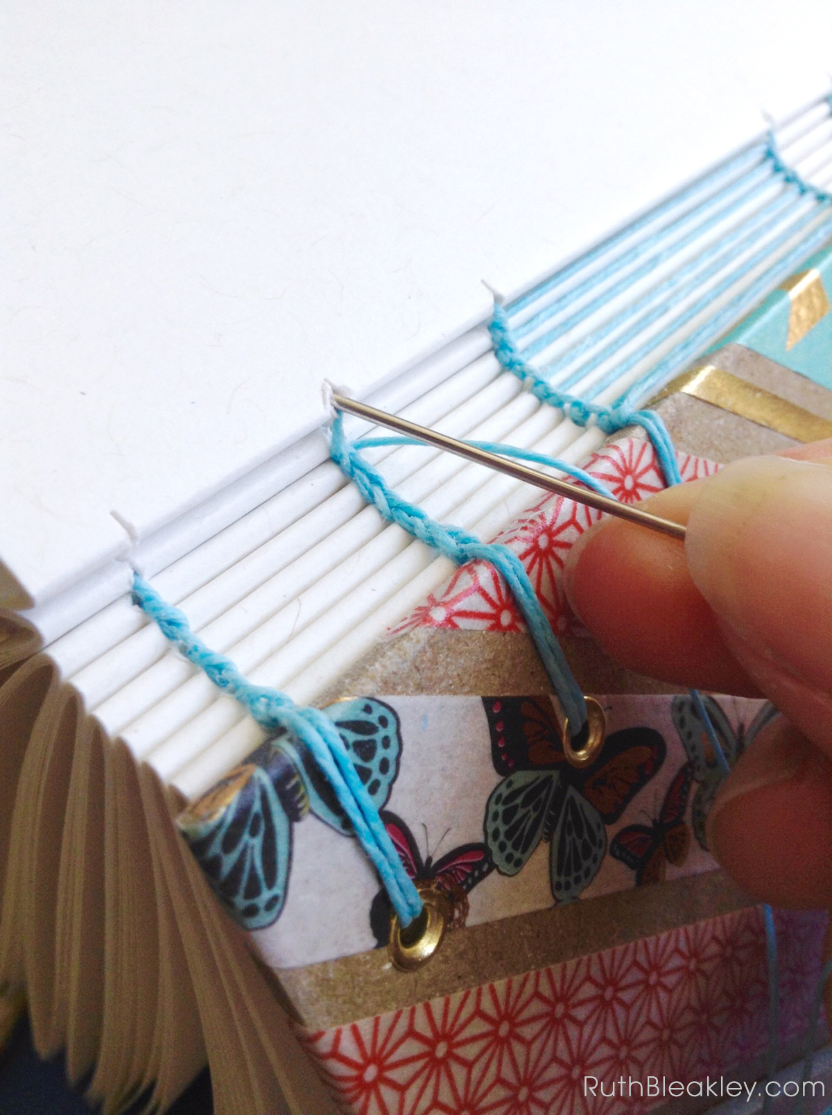 Making Washi Tape Journals with ladder stitching by Ruth Bleakley - 13
