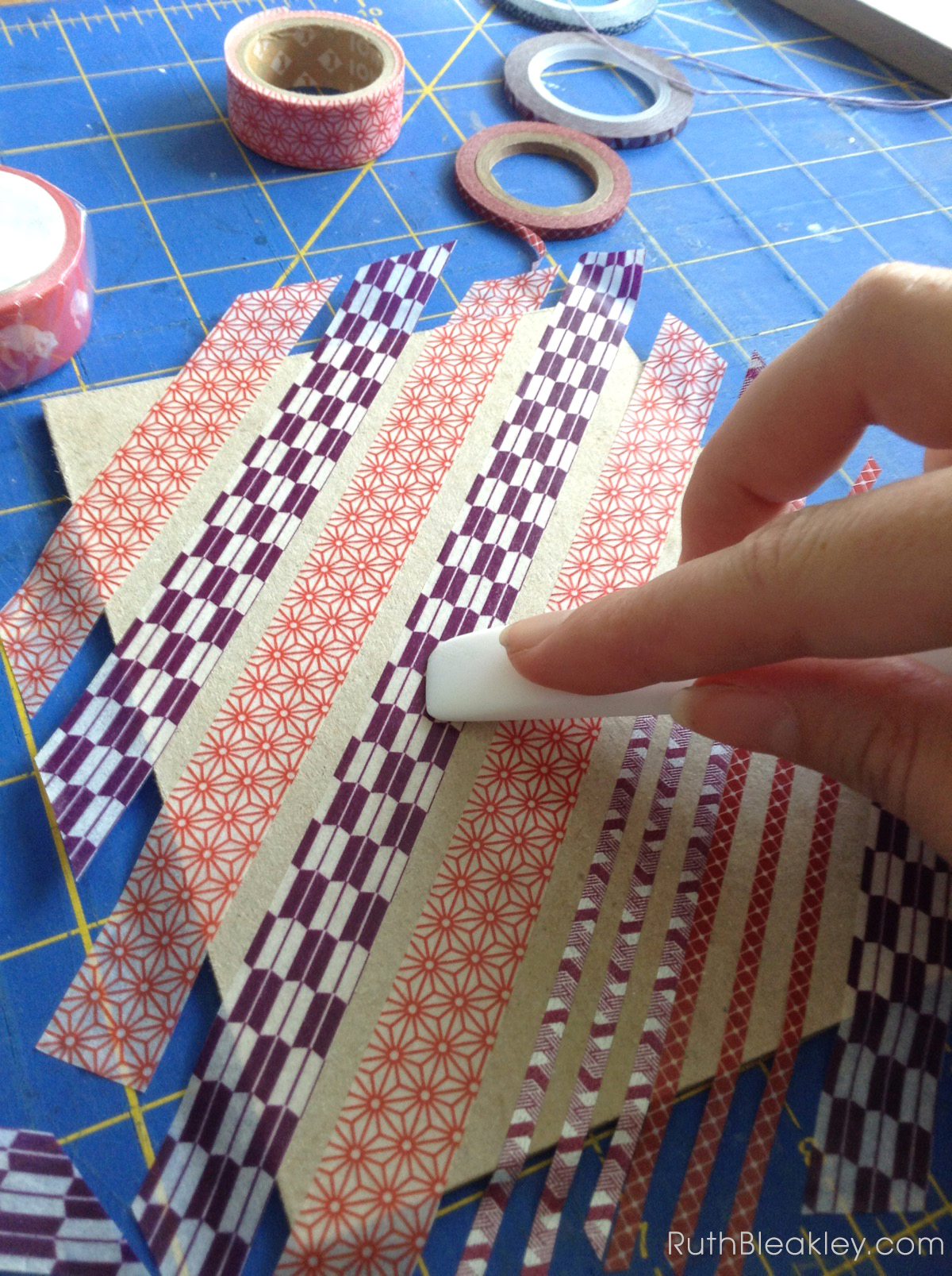 Making Washi Tape Journals with ladder stitching by Ruth Bleakley - 5
