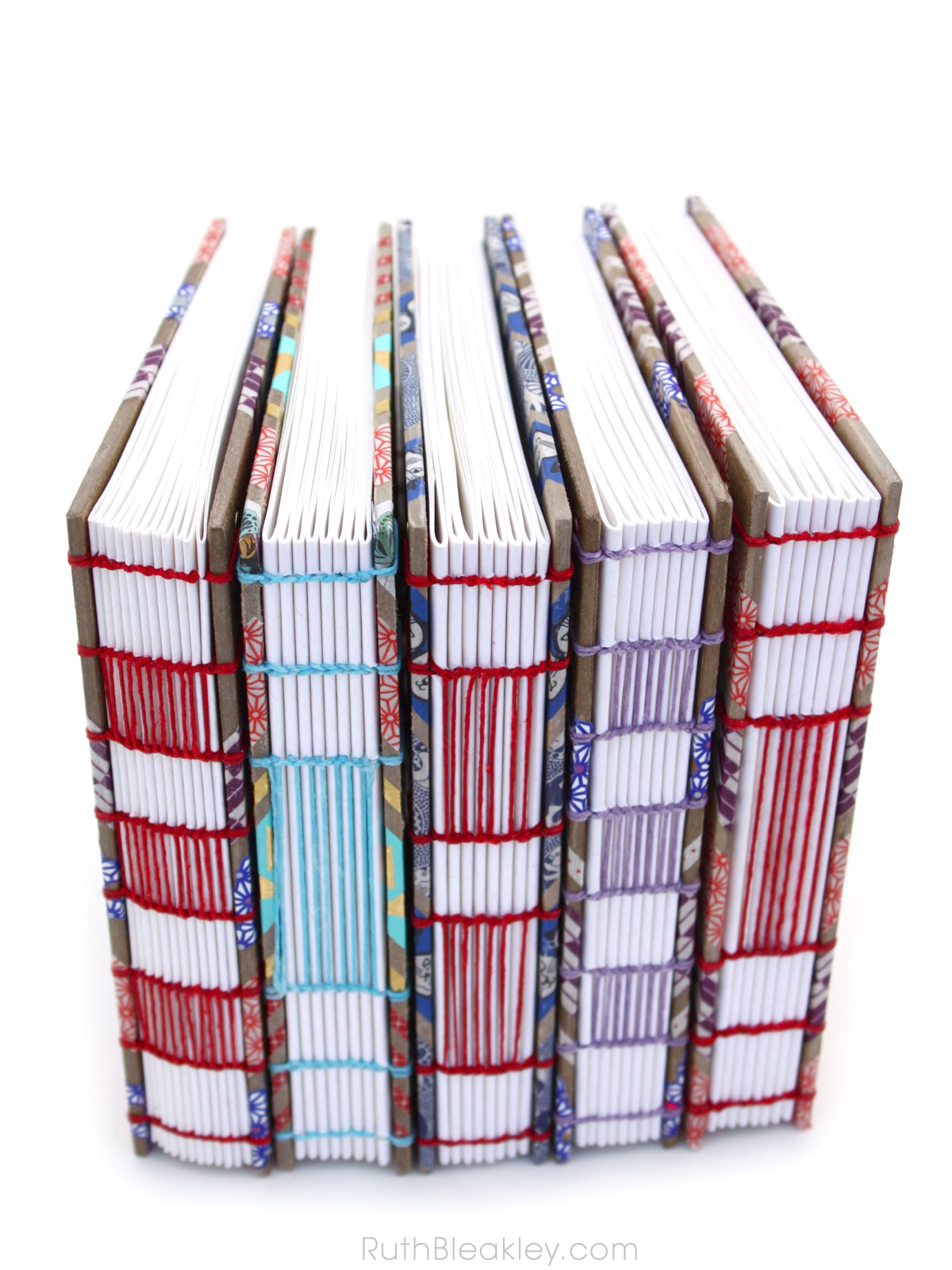 Washi Tape Journals with ladder coptic stitch handmade by Ruth Bleakley - 1