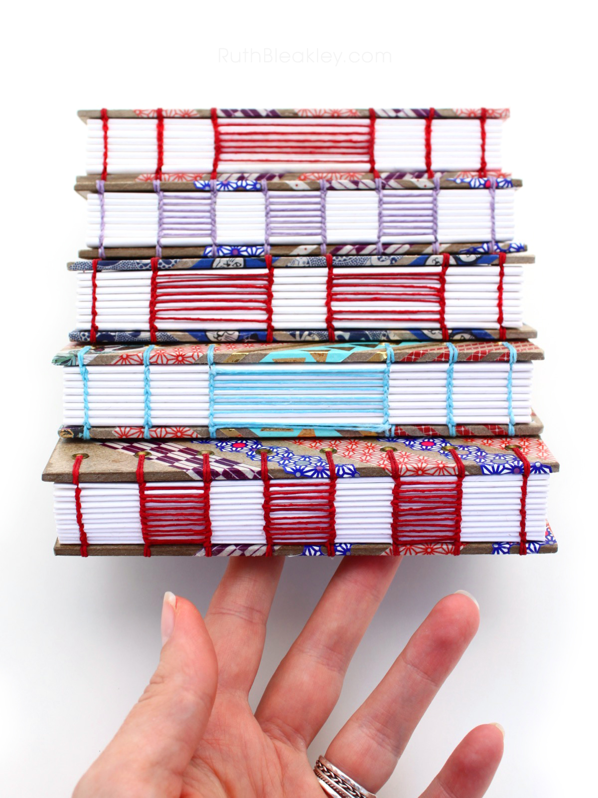 Washi Tape Journals with ladder coptic stitch handmade by Ruth Bleakley - 3