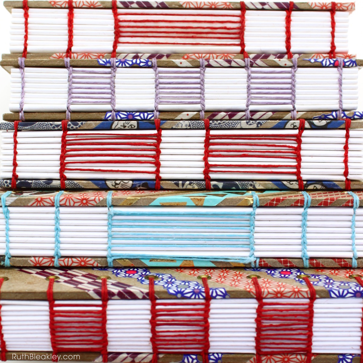 Washi Tape Journals with ladder coptic stitch handmade by Ruth Bleakley - 5