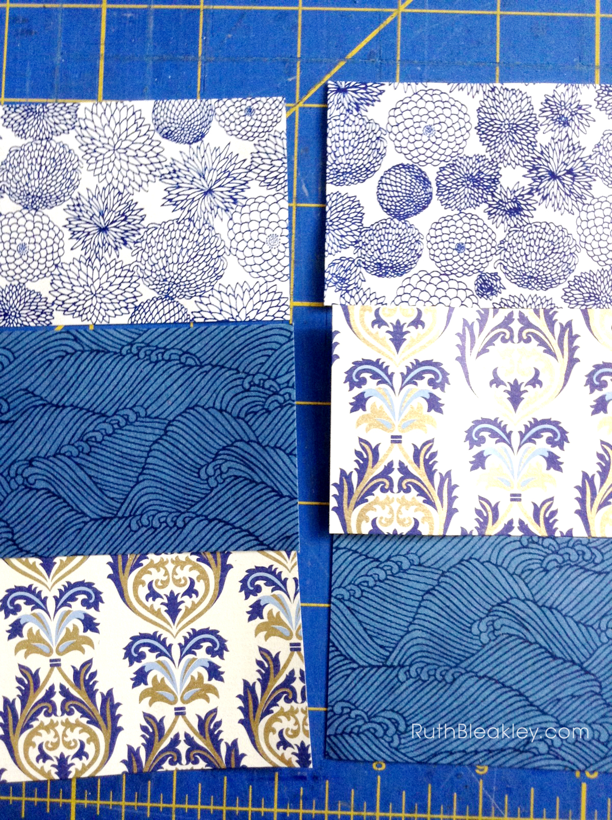 Florentine Waves French Link Journal handmade by Ruth Bleakley - decorative paper