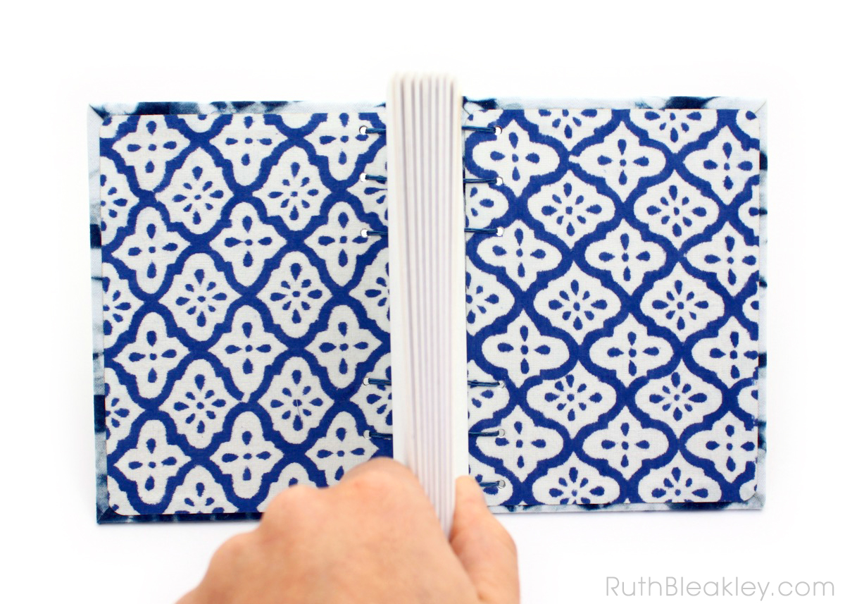 Indigo Shibori Tie Dye Journal - dental X ray - Ruth Bleakley - 2