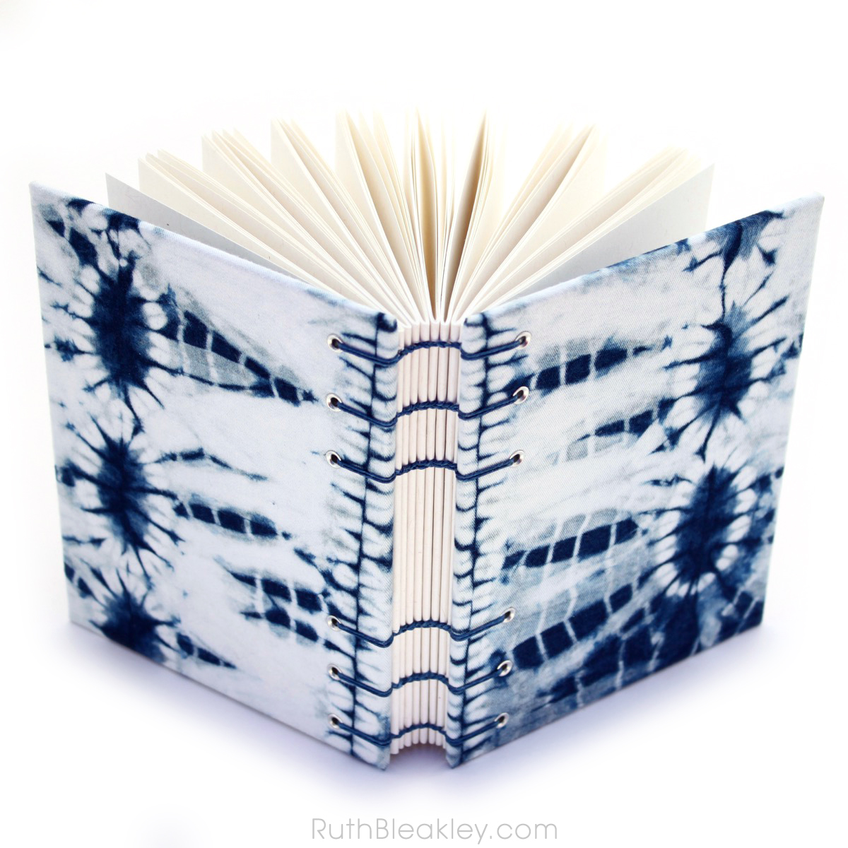 Indigo Shibori Tie Dye Journal - dental X ray - Ruth Bleakley - 4