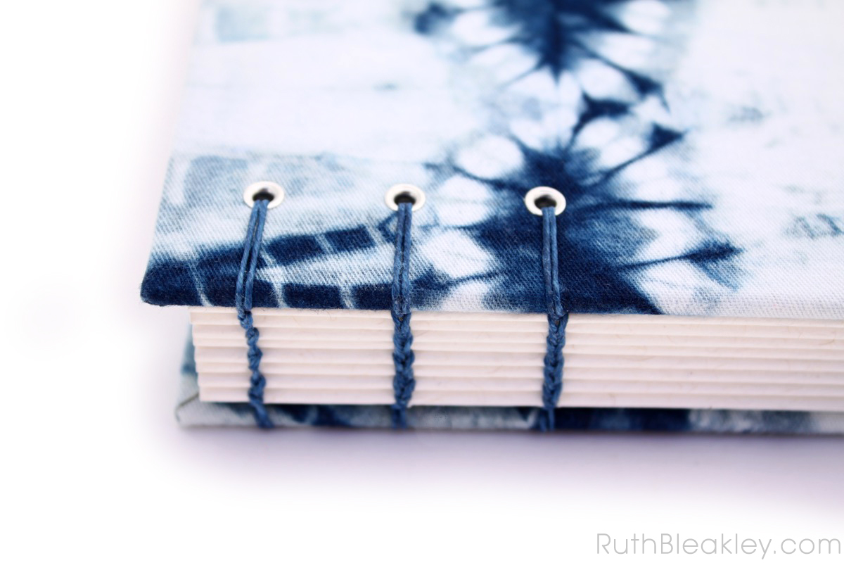 Indigo Shibori Tie Dye Journal - dental X rays - Ruth Bleakley - 2