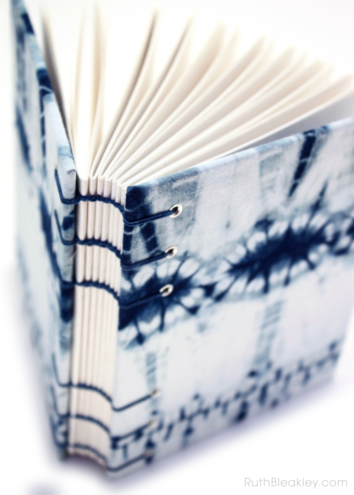 Indigo Shibori Tie Dye Journal - dental X rays - Ruth Bleakley - 3