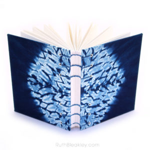Indigo Shibori Tie Dye Journal - hexagon - Ruth Bleakley - 4